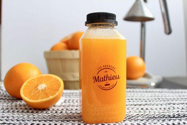 Notre jus d'orange frais pressé