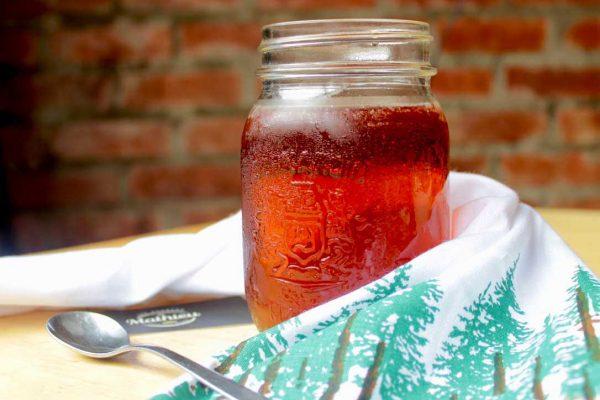 thé glacé à la Framboise et Menthe